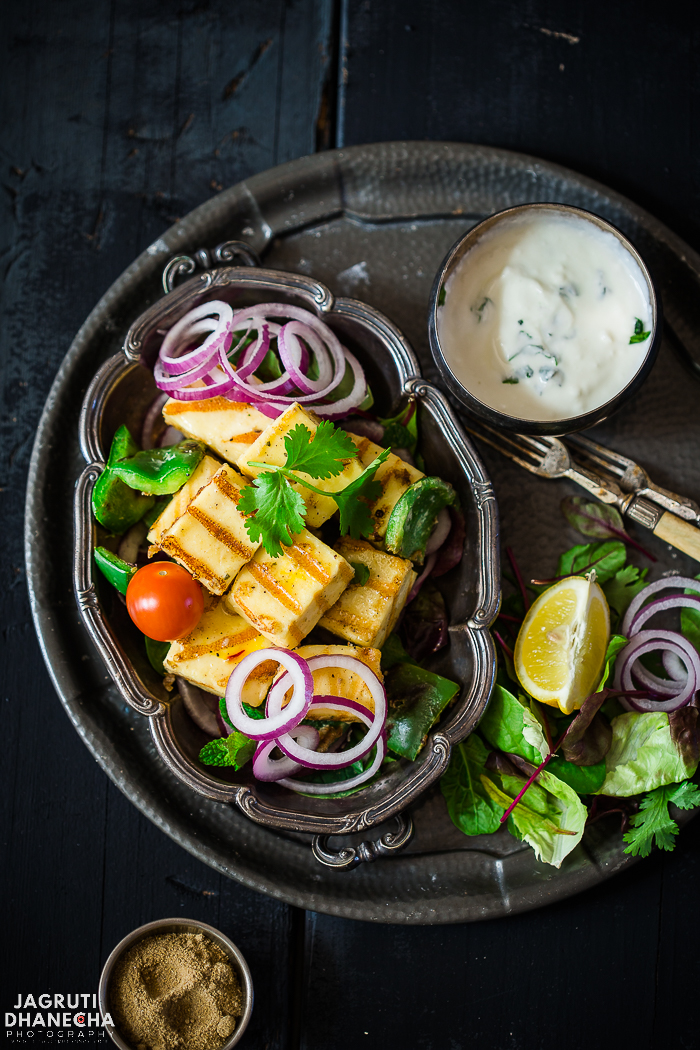 Creamy paneer tikka is an enticing, low carb and hard to resist Indian vegetarian starter. It is packed full of flavours and these tikkas are so easy to make, kid-friendly and perfect for a weekend get together or party menu. The good news is, you don't need to own or go out in the cold to fire a BBQ, because it can be done in your own cosy kitchen using a Grill or Griddle Pan.