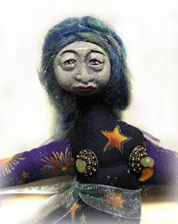 Star Being Wishes a Wisdom Keeper Spirit Doll Cloth and Clay