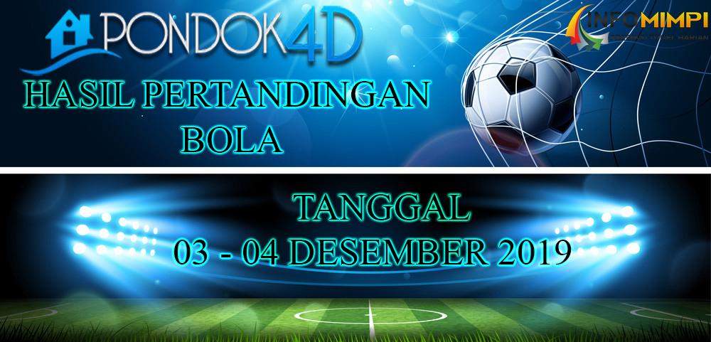JADWAL PERTANDINGAN BOLA 04 – 05 DESEMBER 2019