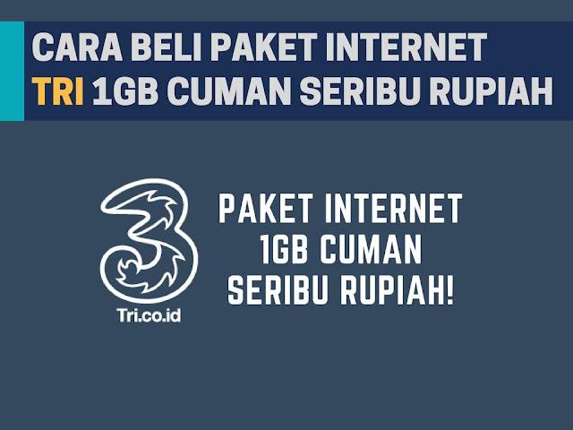 Internet yaitu daerah yang sanggup dimanfaatkan oleh insan untuk berinteraksi Cara Beli Paket Tri Murah Rp1000 Dapat 1GB Terbaru