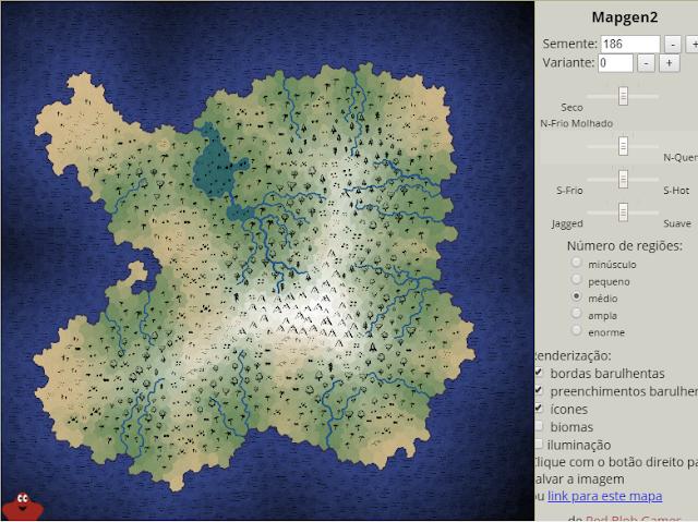 Gerador de mapas poligonal para RPG
