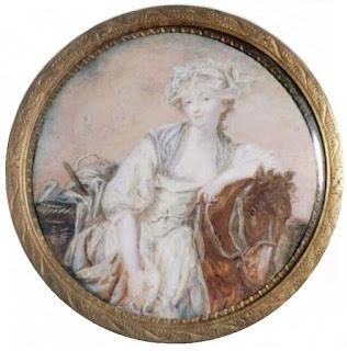 """efb76e3fd0a5 Fig.13. """"La laitière"""" de J.B. Greuze. Entre 1768 y 1774. Acuarela y guache  sobre marfil"""