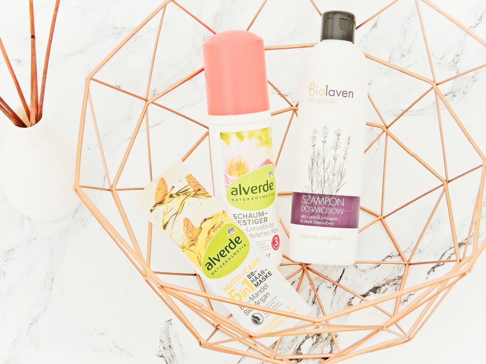 Alverde Nutri-Care-5in1 BB-Haar-Maske, Alverde Schaumfestiger Starker Halt, Biolaven szampon do włosów,