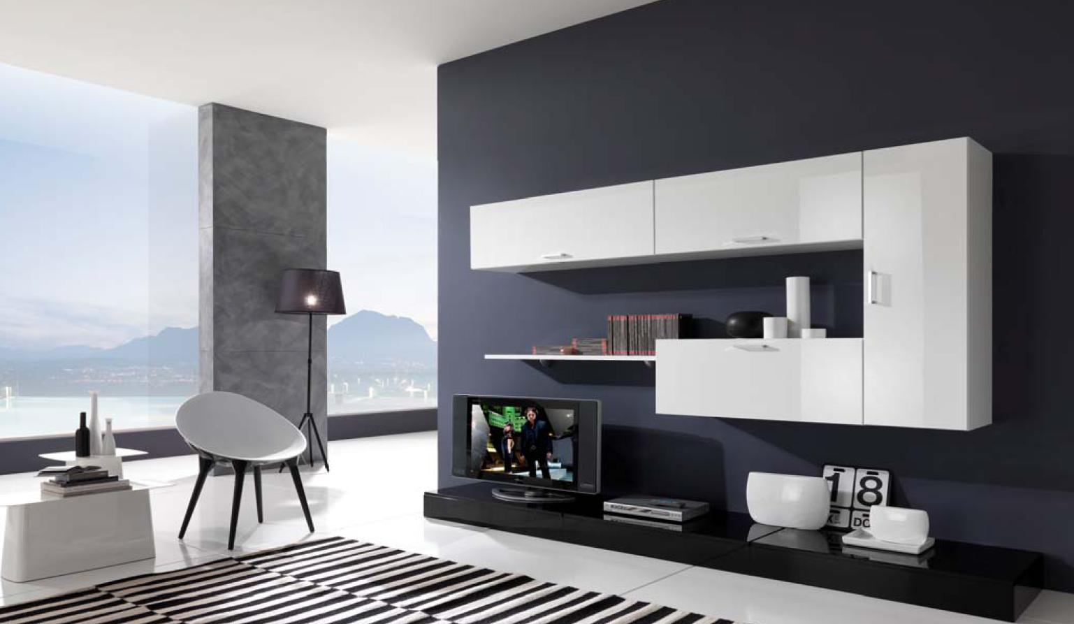 Lindas salas en blanco y negro ideas para decorar - Disenar tu casa ...