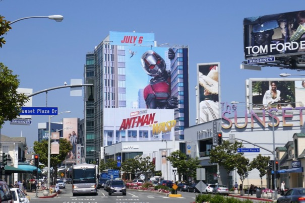 Giant Ant-Man and Wasp billboard Sunset Strip