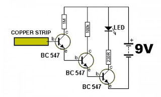 esquema detector de energia