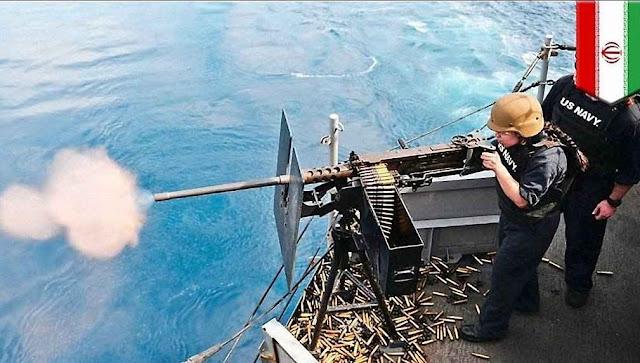 EUA reage contra provocação no Golfo. A foto foi distribuída pelo Irã