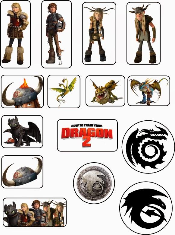 Etiquetas para Imprimir Gratis de Cómo entrenar a tu Dragón 2.