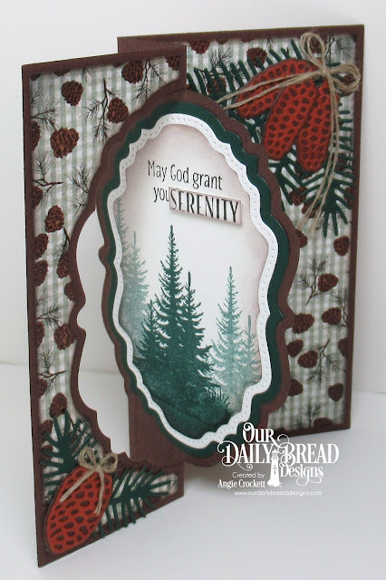ODBD Seek Me, ODBD Custom Vintage Label Flip Fold with Layers Dies, ODBD Custom Double Pierced Vintage Labels Dies, ODBD Custom Vintage Labels Dies, ODBD Custom Pinecones Dies, ODBD Christmas Paper Collection 2017, Card Designer Angie Crockett