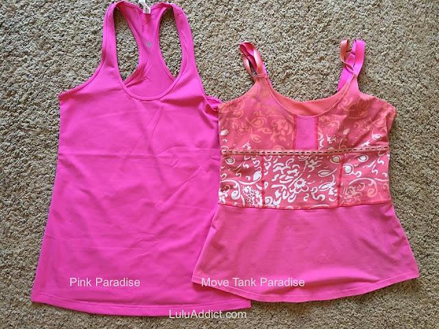 lululemon color-comparison pink-paradise-move-tank-paradise