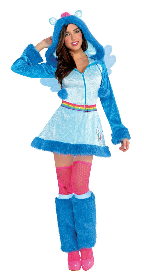 Rainbow Dash Adult Halloween Cosplay Costume  sc 1 st  MLP Merch & More Adult Costumes: Fluttershy Pinkie Pie Rainbow Dash and ...