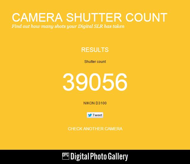 Shutter Count Kamera dan Cara Cek Shutter Count