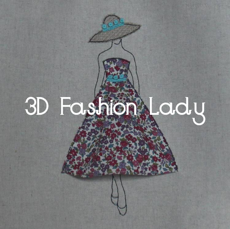 Fashionable Lady - 3D Free Motion Embroidery Tutorial