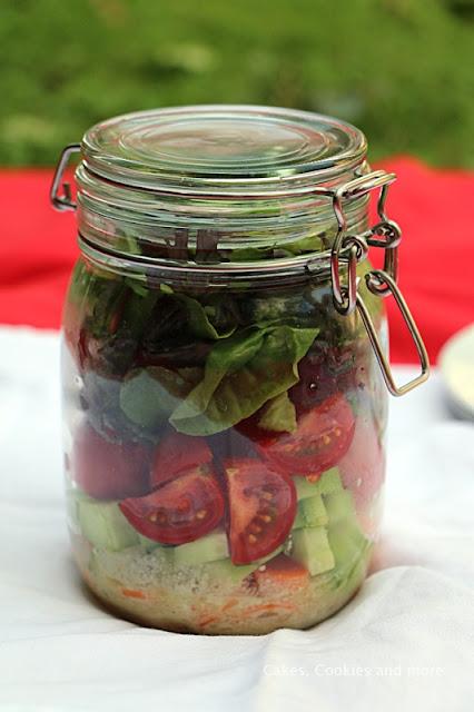 Salat im Einmachglas