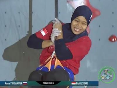 Atlet Panjat Tebing Indonesia Aries Susanti Raih Medali Emas Asian Games 2018