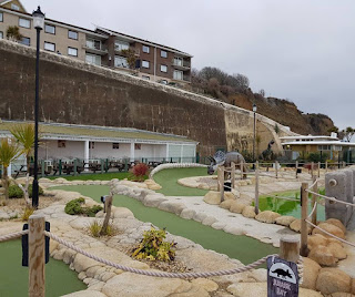 Jurassic Bay Adventure Golf course in Shanklin, Isle of Wight. Photo by Dan Paynton, 31 March 2018