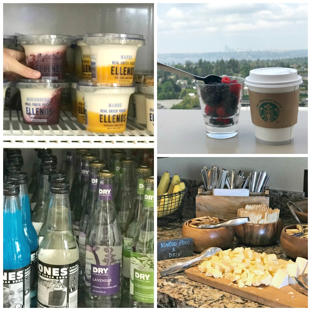 Jones Soda, Ellenos yogurt, Beecher's cheese at Hyatt Regency Bellevue