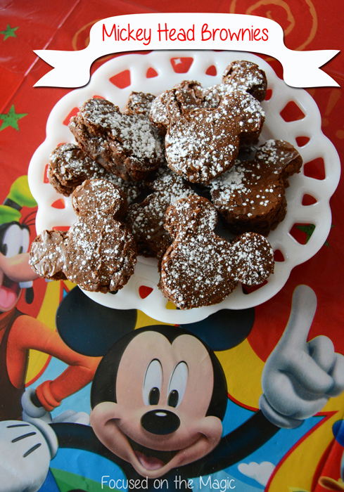 Our #DisneySide Party - Mickey Head Brownies