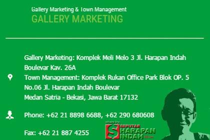 Disini Gallery Marketing Kota Harapan Indah