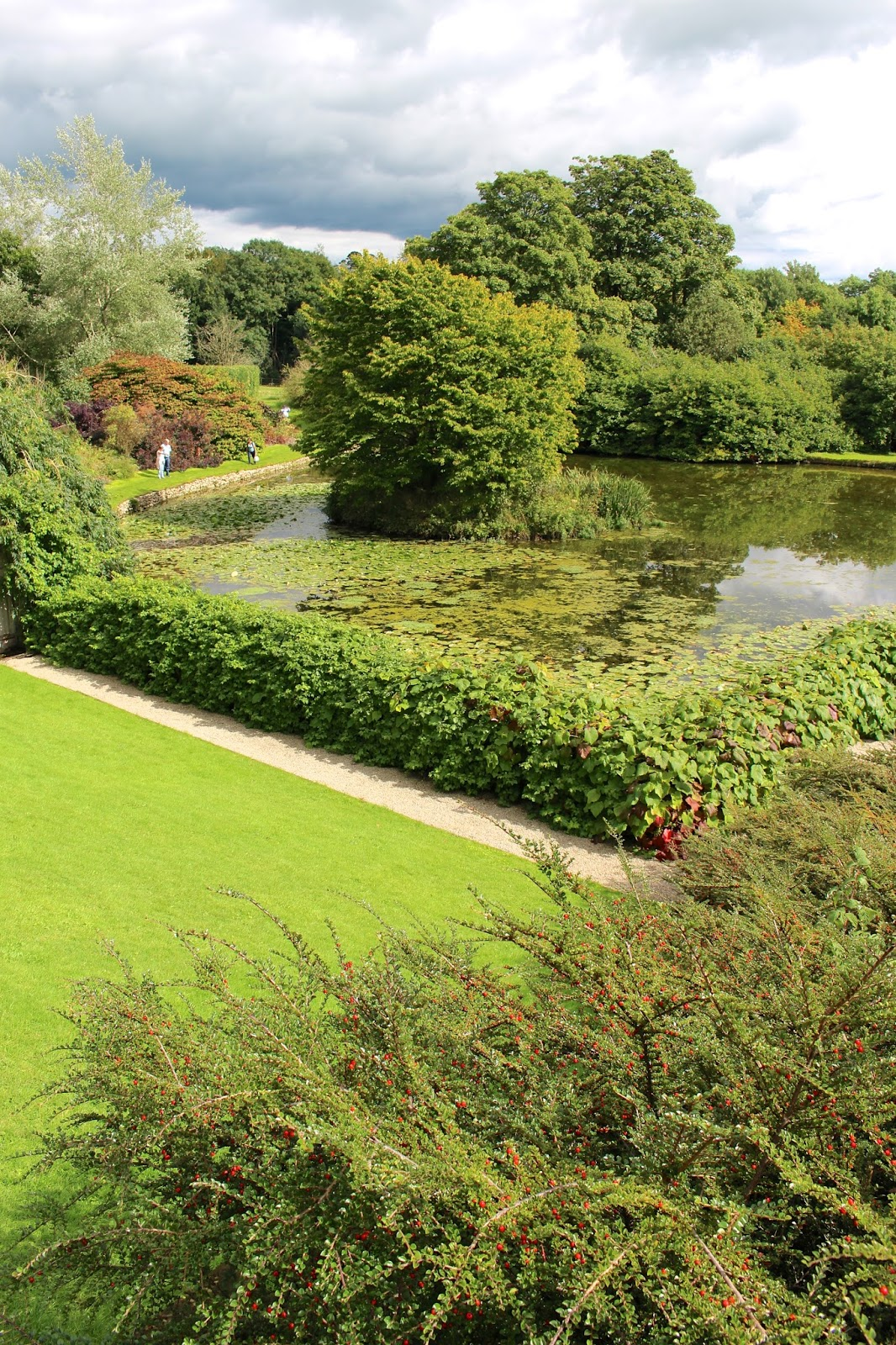 National Trust Sizergh Castle gardens lake review