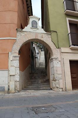 Escalera cerca Plaza Mayor de Villena, Leyendas del Rock 2016