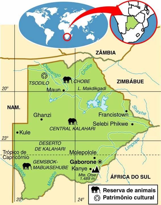 Botswana | Aspectos Geográficos e Socioeconômicos de Botswana