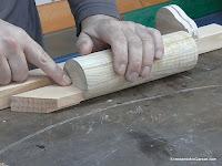Aproximar taco de altura menor que mitad diámetro del cilindro. www.enredandonogaraxe.com