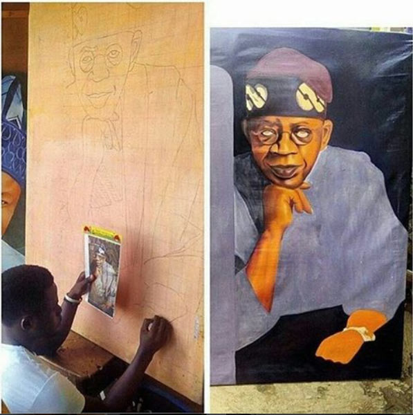Check out what happened to artist who was ordered to draw Tinubu in 6 hours