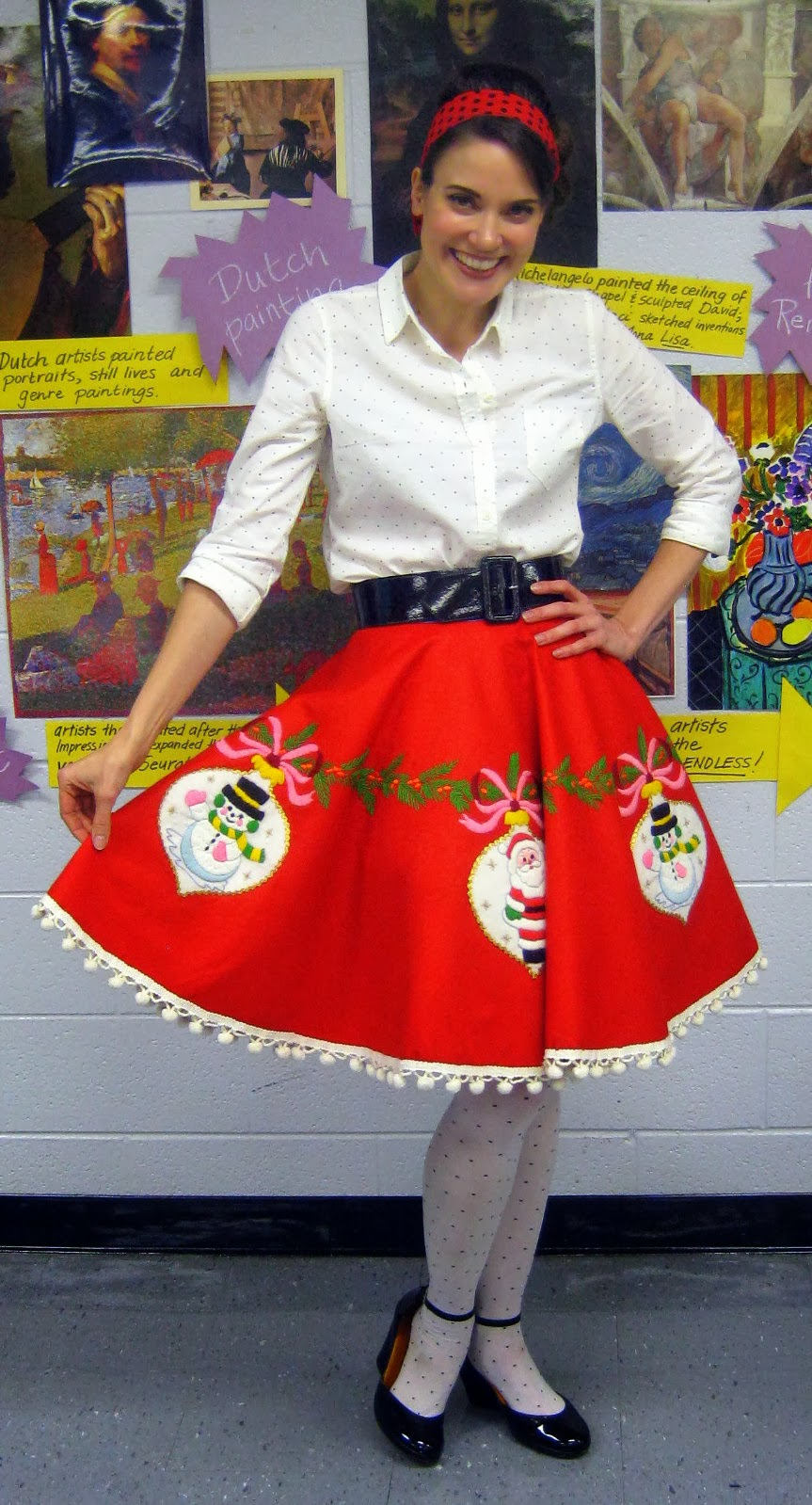 Ugly Christmas Skirt Ideas.Cassie Stephens Diy Tree Skirt To Lady Skirt In 60 Minutes