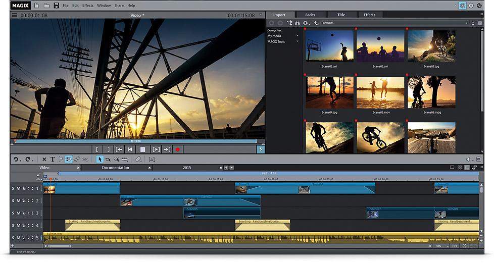 magix movie edit pro templates - review magix movie edit pro 2016 plus the test pit