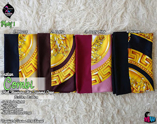 Jilbab segi empat instan motif cantik model 2 layer