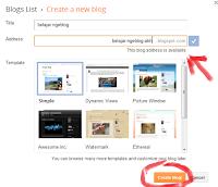 buat blog awal blogspot