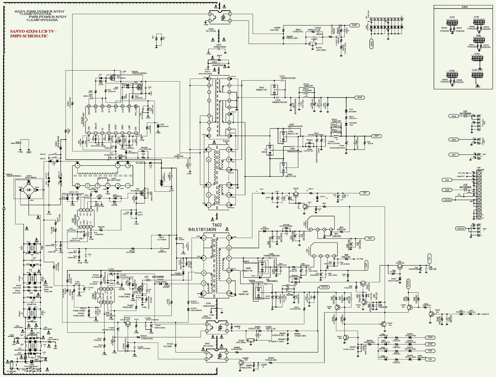 sanyo tv wiring diagram