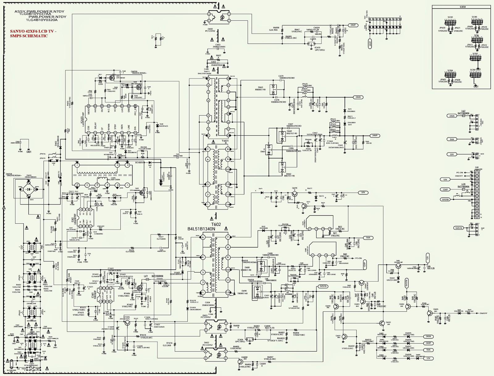sony tv circuit diagram sanyo tv circuit diagram