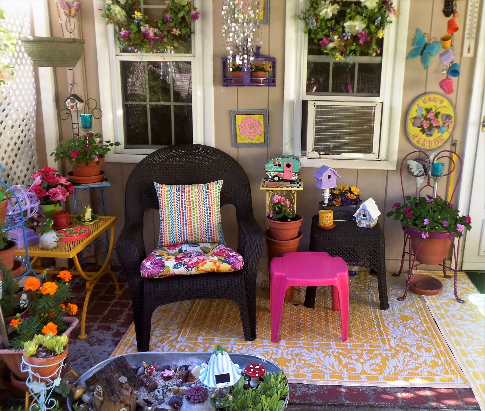 Bright and Colorful Patio, Part 1, 2018