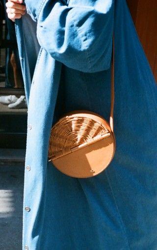 wiklinowa torebka okrągła dwuczęściowa