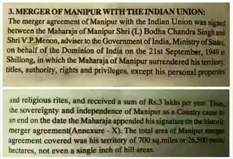 Khochungte Awgin Merger Of Manipur With The Indian Union