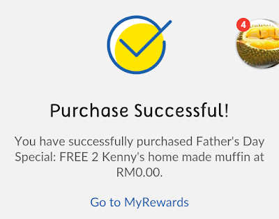 My Digi App Reward e-Voucher Free Kenny Home Made Muffins