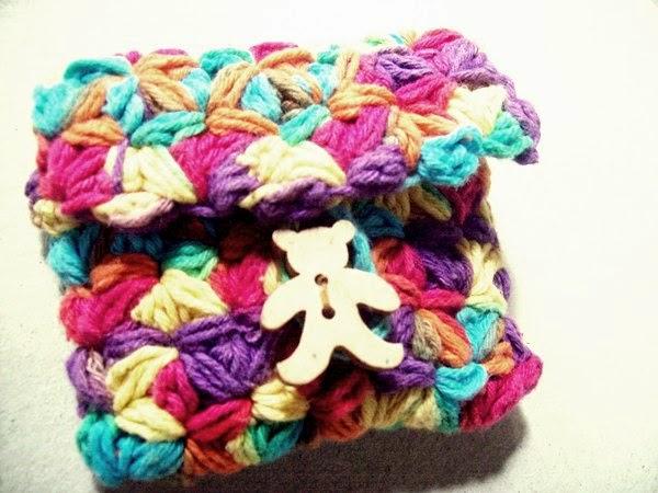 dompet mini rajut crochet