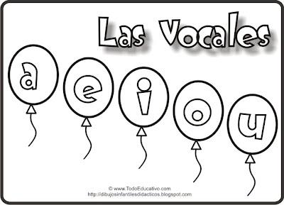 Imagenes De Vocales Animadas Para Colorear Imagui