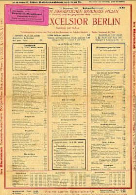Restaurant Hotel Excelsior - Menu - 1932 Berlin