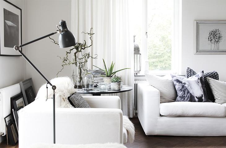 design attractor: Another Beautiful Scandinavian Interior in B&W