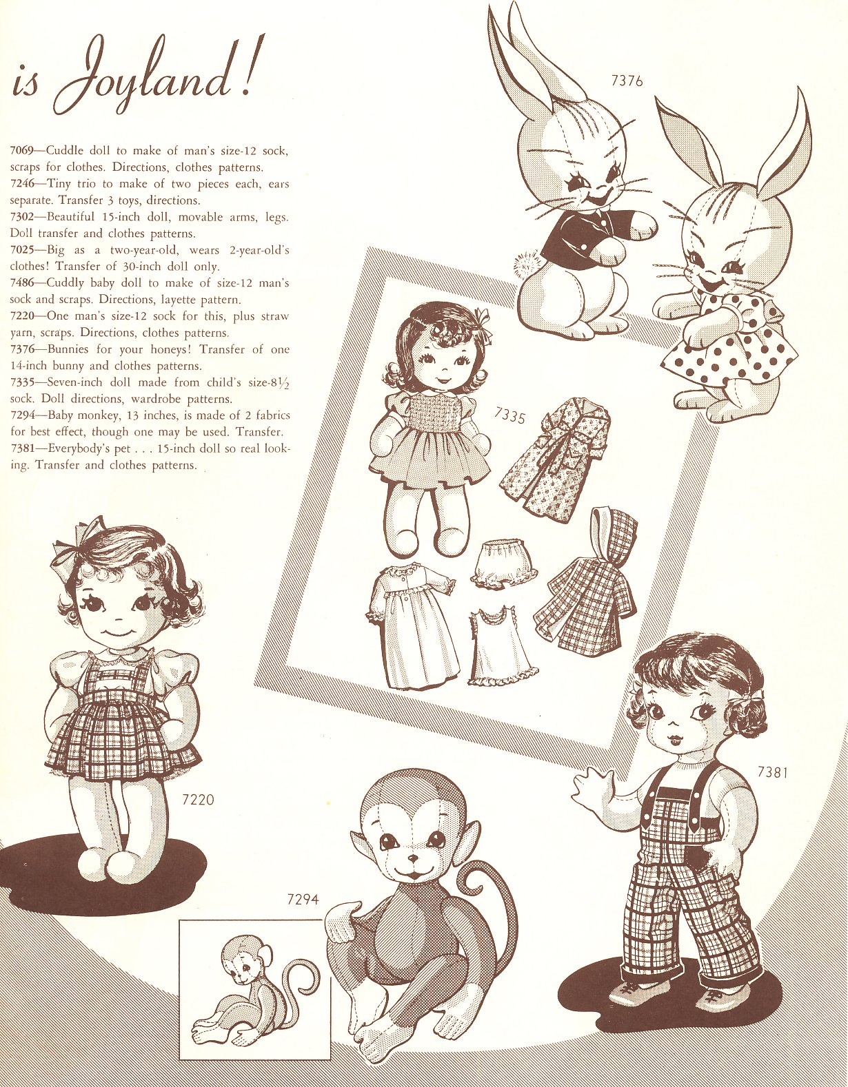 Vintage Cloth Doll Pattern 96