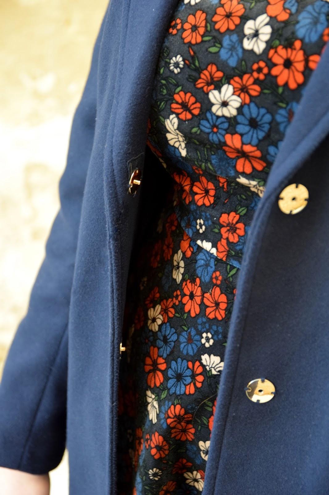 Topshop Velvet Floral Dress