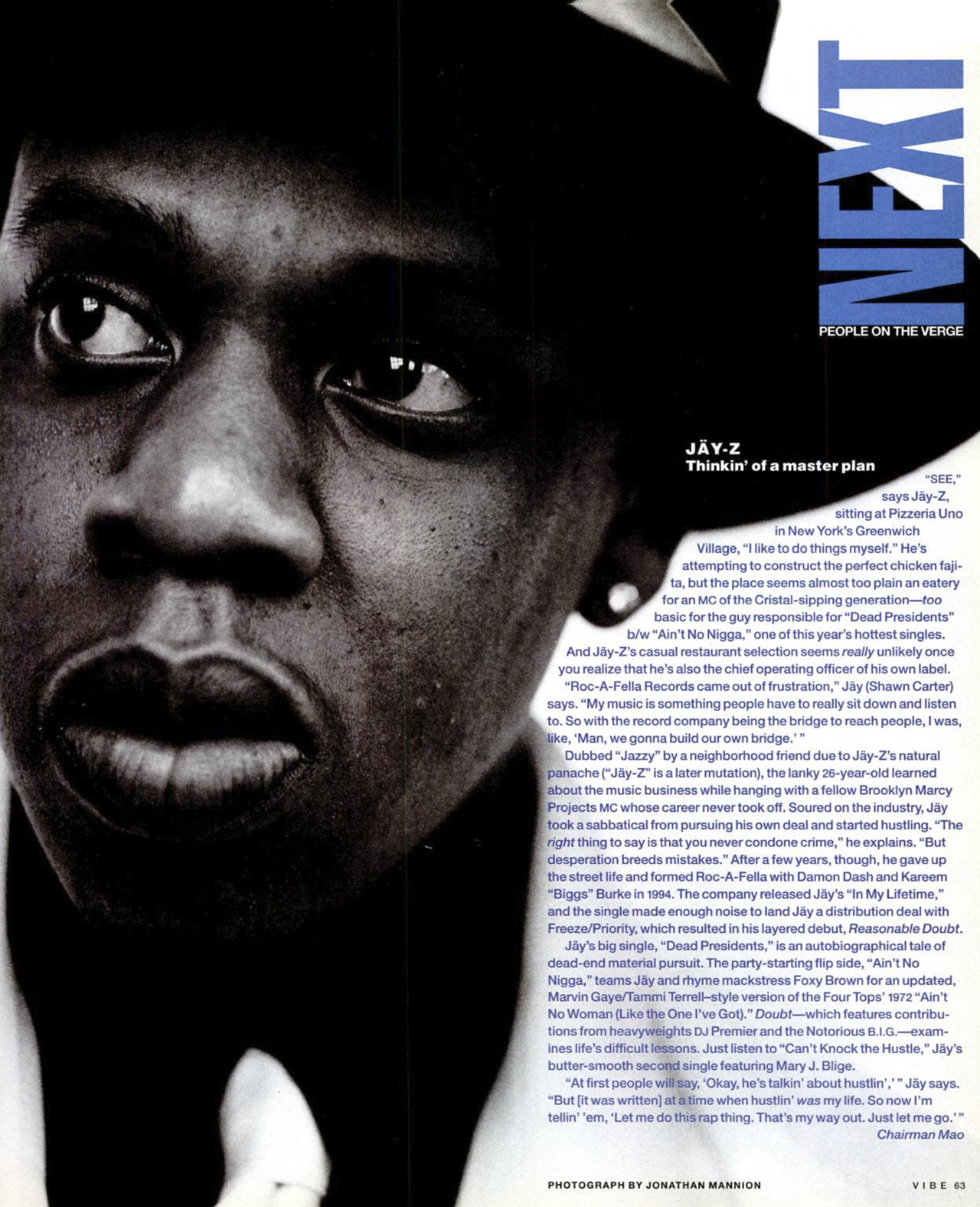 Jay-Z Next People On The Verge Vibe Magazine August 1996