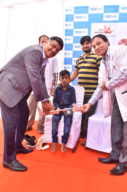 Spark Minda, Ashok Minda Group Organizes Artificial Limb Fitment Camp to help Persons with Disability.