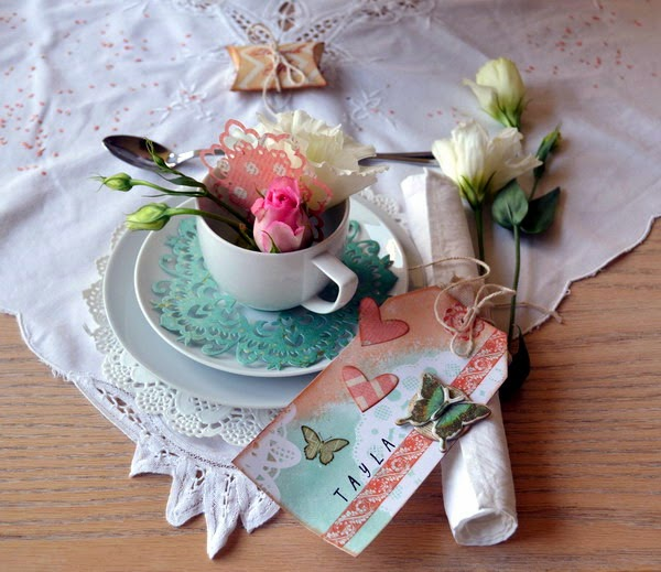 Tea Party Pretties by Denise van Deventer using BoBunny Cardstock and Pearlescents 02
