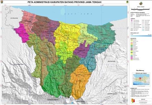 Gambar Peta Kabupaten Batang