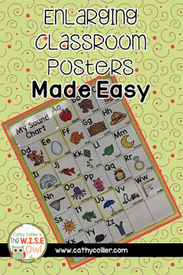 Ever need a poster, but can't get to Office Max to enlarge it. OR don't want to pay for a color poster? Enlarging Classroom Posters Made Easy.