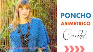 Poncho asimétrico con cuadros crochet / Paso a paso